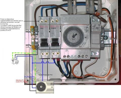 Branchement électrique de la pompe à chaleur