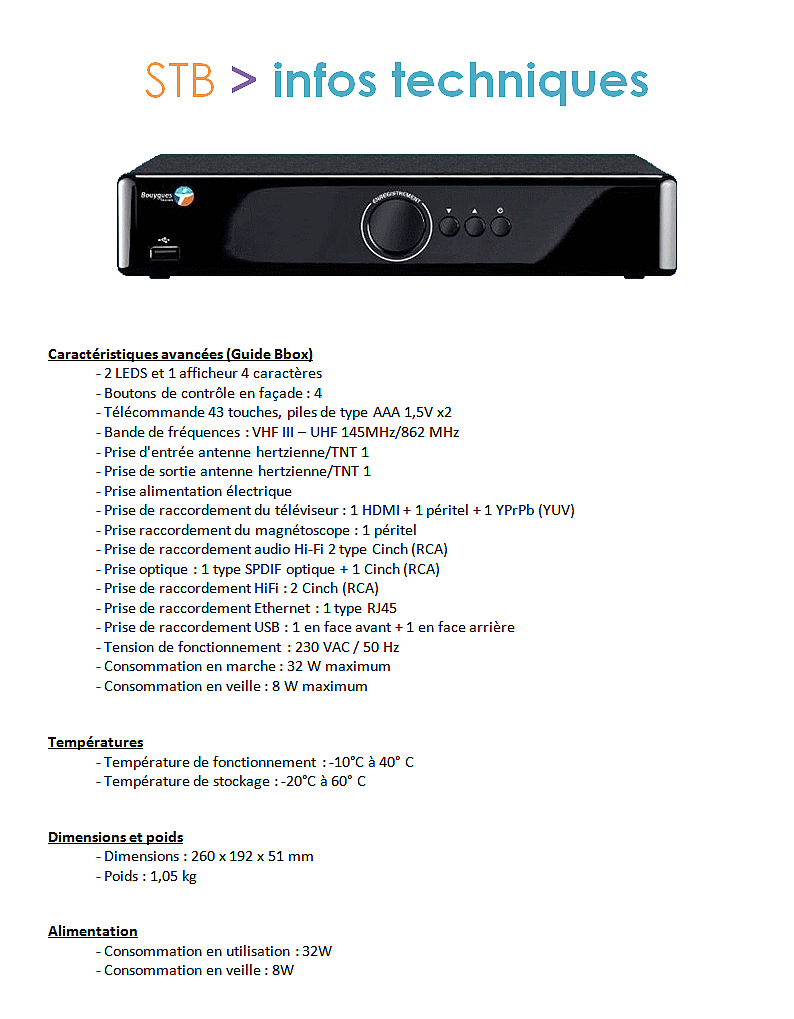 Set Top Box (STB) : informations Stb_in10