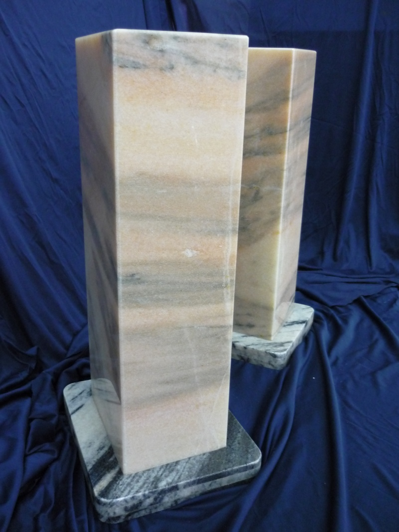 Solid Marble Speaker Stands New