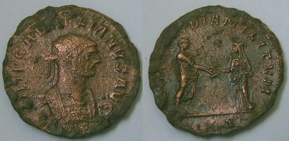Antoninien d'Aurélien (CONCORDIA MILITVM) [WM n° 7742] Romain11