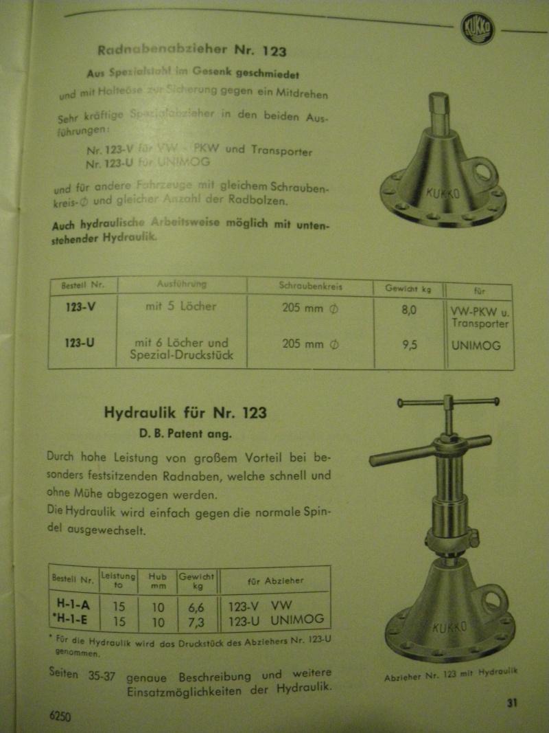 extracteur KUKKO 123-U de moyeux pour 411 - banjo 2010-026