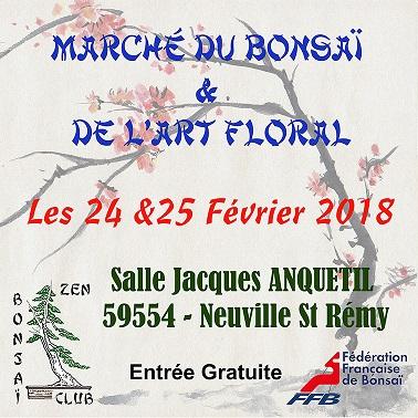 marché du bonsaï du zen bonsaï club Affich11
