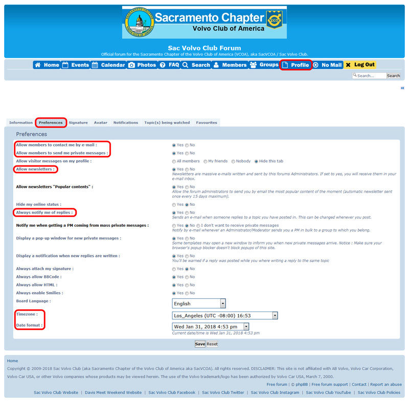 classified - Forum Communications (E-mail, PM, Newsletter, Notifications) and Profile Settings Sacvco11