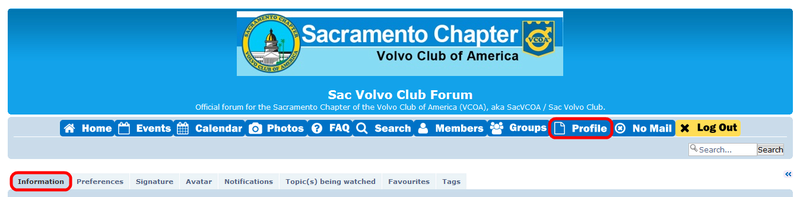 settings - Forum Communications (E-mail, PM, Newsletter, Notifications) and Profile Settings Sacvco25