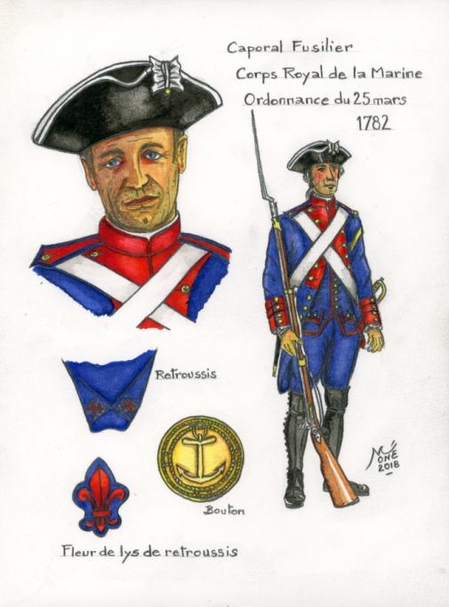 Corps Royal de la Marine : Régiment de Brest. Trouvé ! Aqua_111