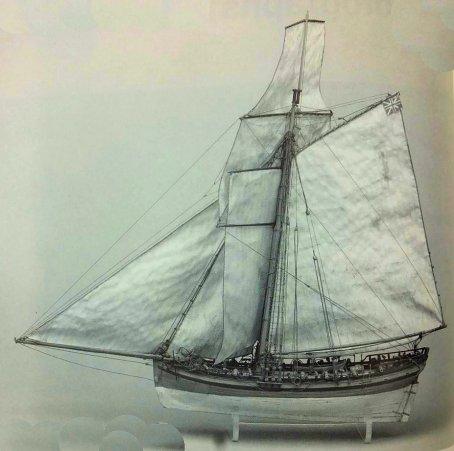 Le Dragon du chevalier de L'Espine : du Cutter anglais à la corvette française. Cutter10
