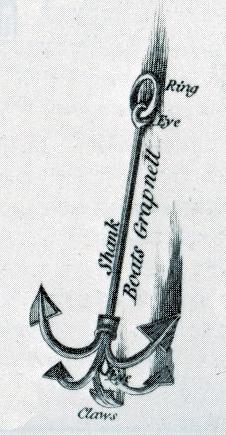 Corvette française 1783 : grappin de mouillage. Dragon10