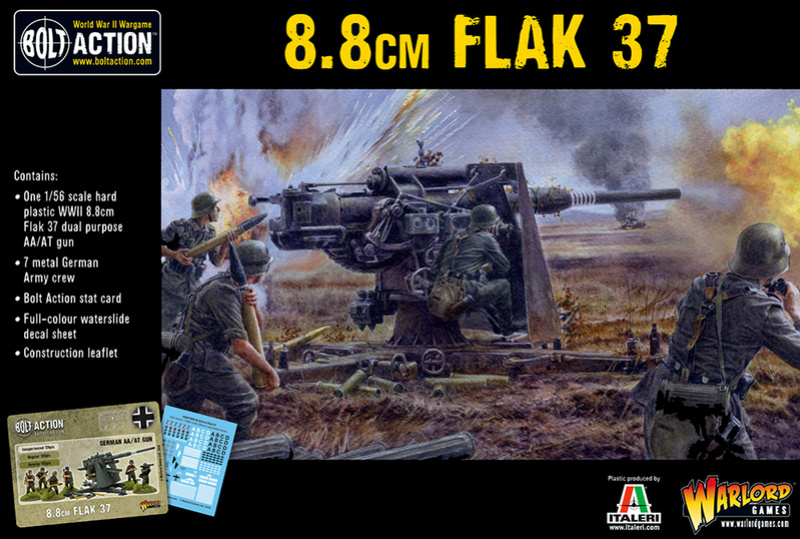 Canon 88mm flak37 Warlord games 857aef11