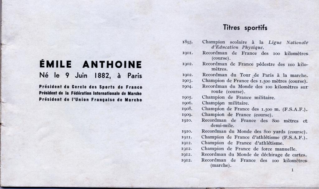 Emile ANTHOINE créateur de l'épreuve  Numeir11