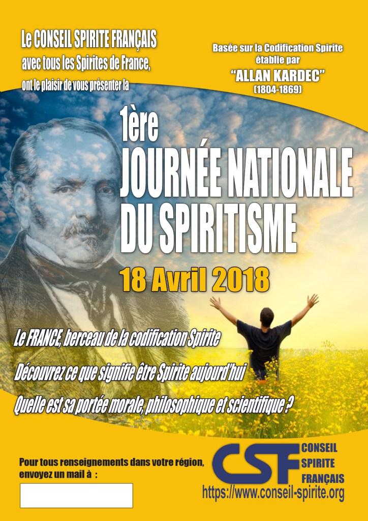 JOURNÉE NATIONALE DU SPIRITISME 2018 Affich10