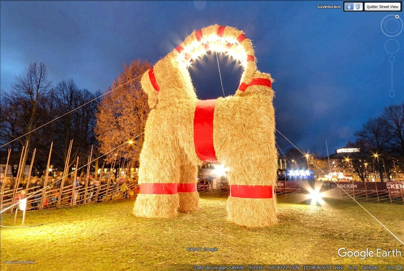 La tradition de la Gävlebocken, la chèvre de Gävle (Suède) Chyvre10