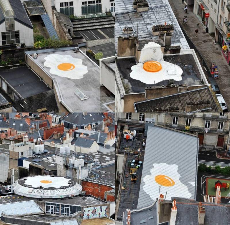Les quatres oeufs au plat sur les toits de Nantes (France) Mjaxnd10