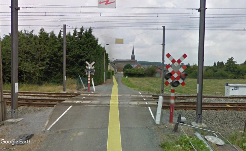 Street View: la street car commet une infraction grave! Havinnes (Belgique) Passag10
