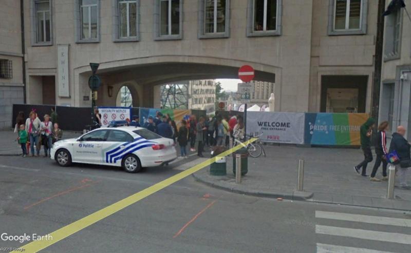 Street View: la street car se retrouve dans les festivités de la Pride de Bruxelles, le 19 mai 2018 Pride110