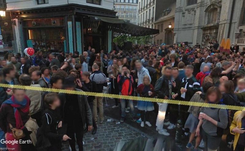 Street View: la street car se retrouve dans les festivités de la Pride de Bruxelles, le 19 mai 2018 Pride510