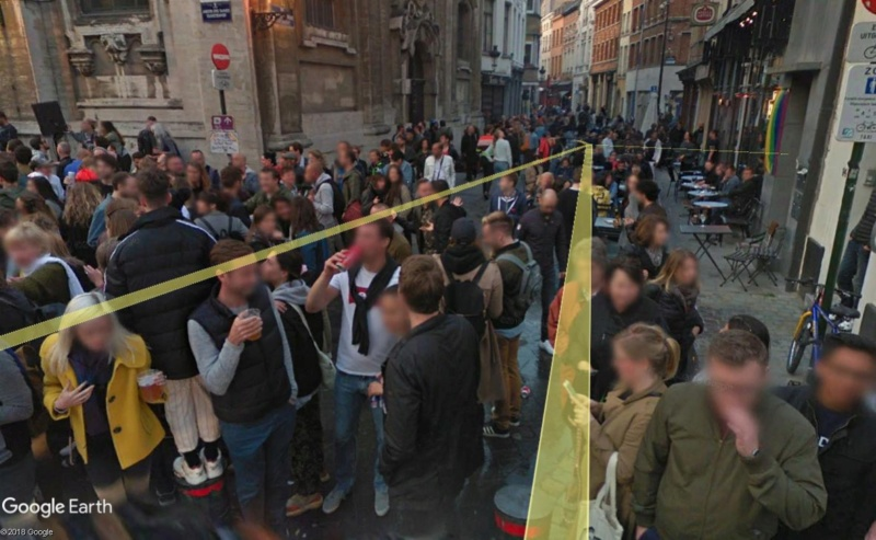 Street View: la street car se retrouve dans les festivités de la Pride de Bruxelles, le 19 mai 2018 Pride610