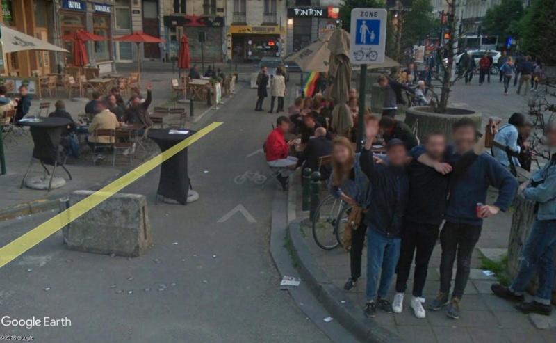 Street View: la street car se retrouve dans les festivités de la Pride de Bruxelles, le 19 mai 2018 Pride710