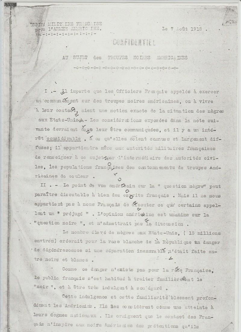 Les noirs dans l'armée américaine en 1917, replay France Ô. 00324