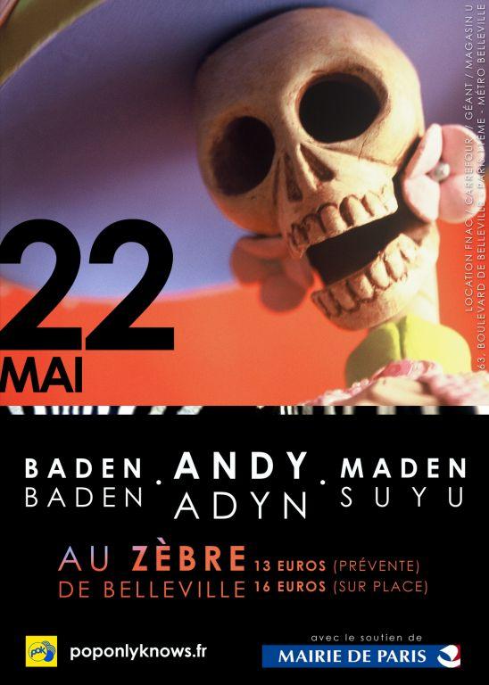 Andy Adyn W/ Madensuyu et Baden Baden au Zèbre de Belleville Le_zab11