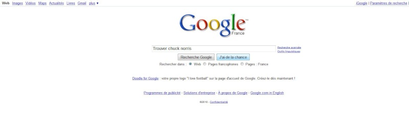 Chuck Norris fait peur même à Google... Google10