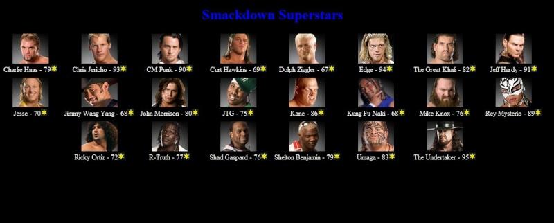 SMACKDOWN Roster Smackd10