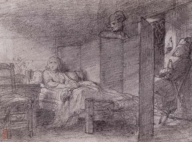 La Conciergerie : Marie-Antoinette dans sa cellule. Pd-82-11