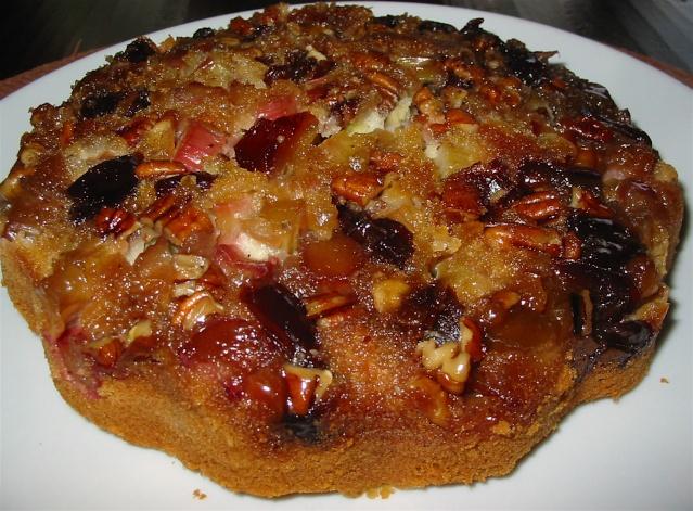 Gâteau renversé à la rhubarbe et aux dattes de Messidor  6_peti11