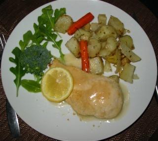 Escalopes de poulet au citron et aux amandes de Messidor Escalo11