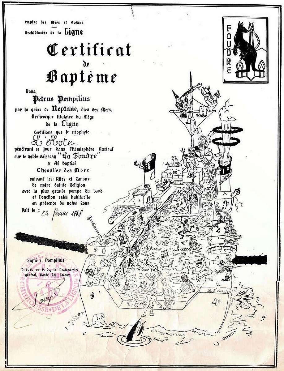[ Les traditions dans la Marine ] Les diplômes de la Ligne - Page 5 0198