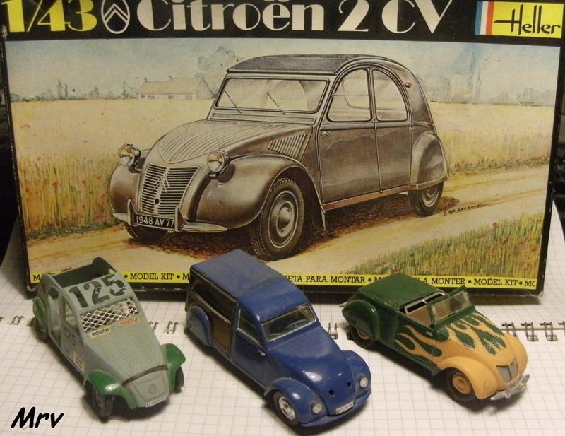Maquette Heller au 1/43 éme-  2CV type A 1947 Dscf7711