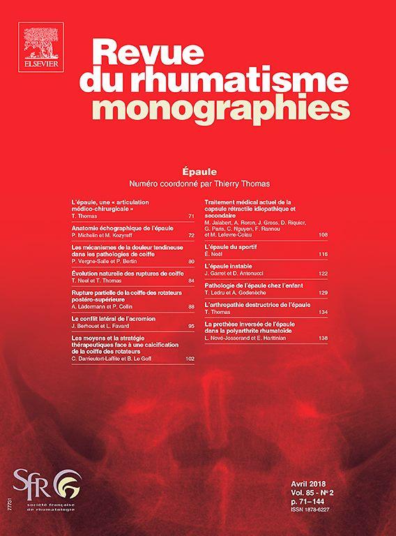 Revue du Rhumatisme Monographies avril 2018 'spécial épaule' 32888010