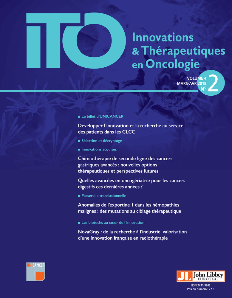 Innovations & Thérapeutiques en Oncologie Mars-Avril 2018 Image12