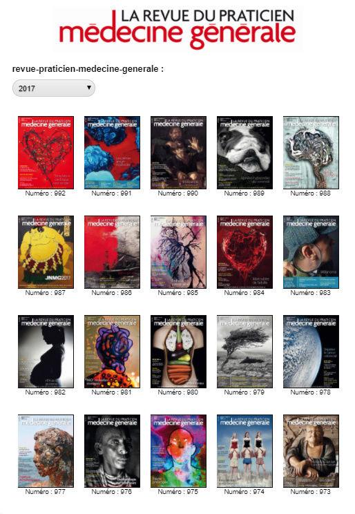 La revue du Praticien - Médecine générale 2017 (tout les numéros de l'année 2017) Mg10