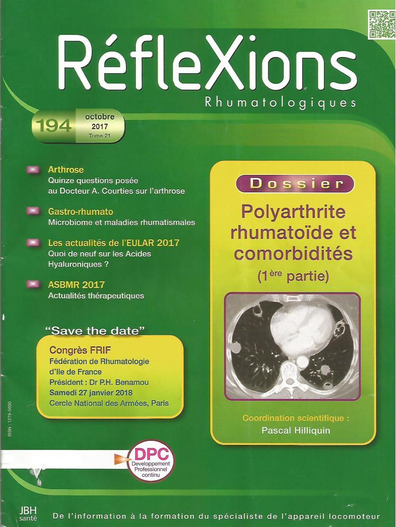 RéfleXions Rhumatologiques octobre 2017 Ryflex10