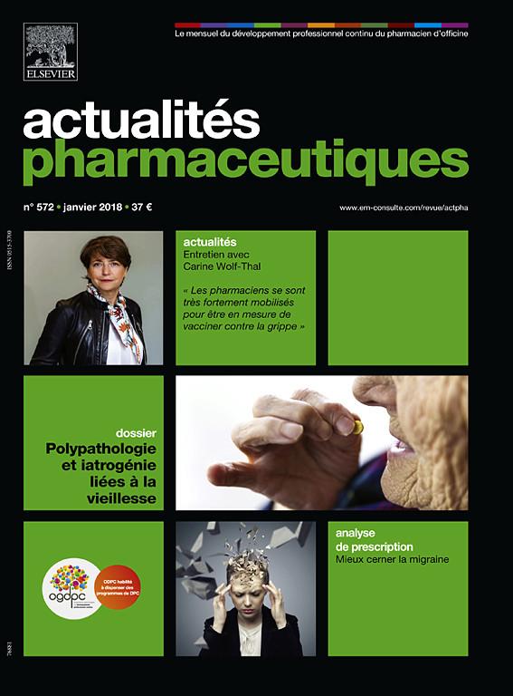 Actualités pharmaceutiques janvier 2018 X0515310