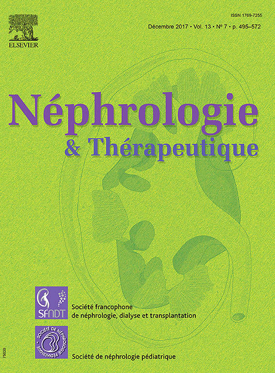 Néphrologie & Thérapeutique December 2017 X1769710
