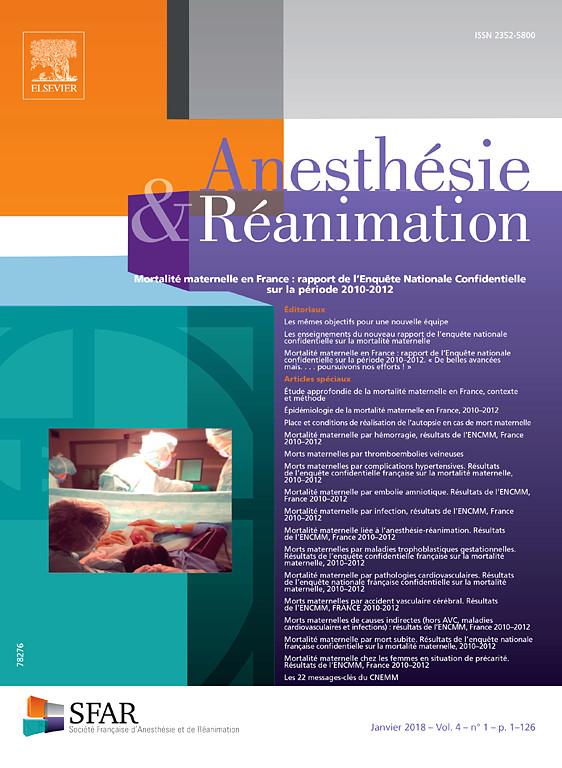 Anesthésie & Réanimation Mars 2018 (Journée Monothématique en Réanimation // La ventilation mécanique : de la physiologie à la pratique ) X2352510