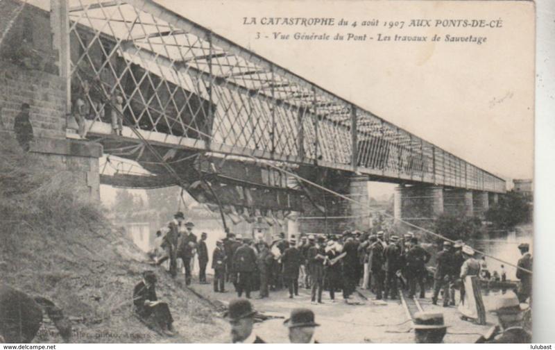 CPA Ponts et catastrophes angevines 1850, 1907, 1911 009_0010