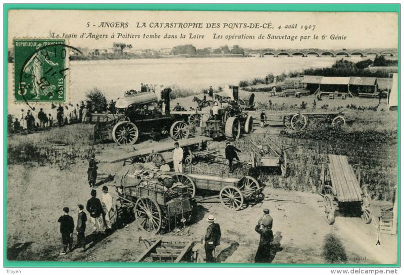 CPA Ponts et catastrophes angevines 1850, 1907, 1911 089_0010