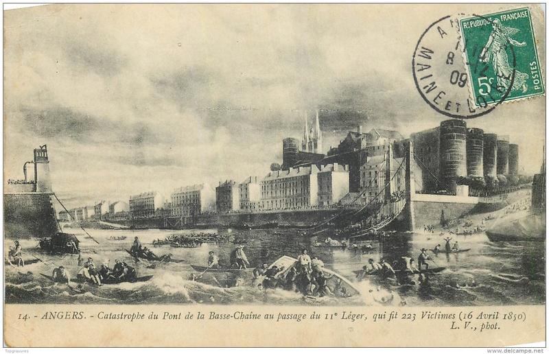 CPA Ponts et catastrophes angevines 1850, 1907, 1911 124_0010
