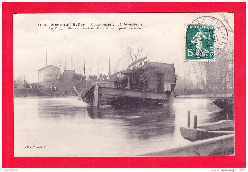 CPA Ponts et catastrophes angevines 1850, 1907, 1911 380_0010