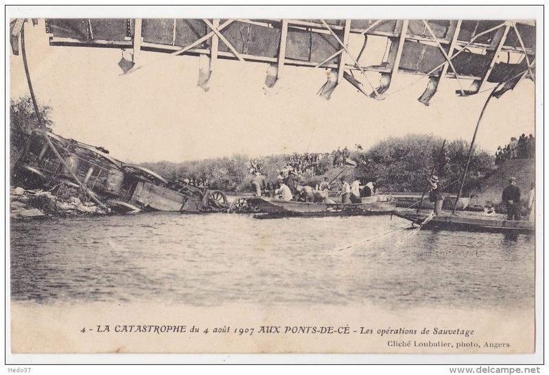 CPA Ponts et catastrophes angevines 1850, 1907, 1911 461_0010