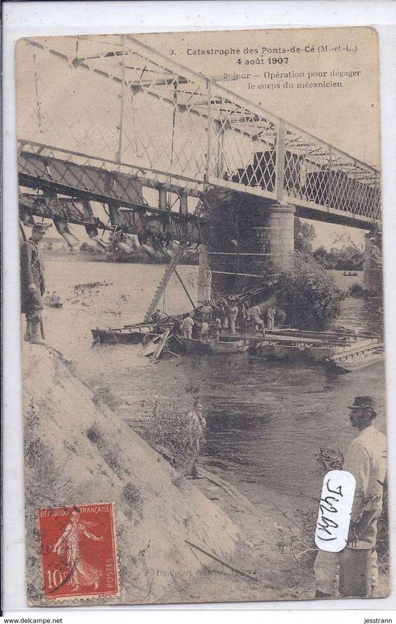 CPA Ponts et catastrophes angevines 1850, 1907, 1911 523_0010