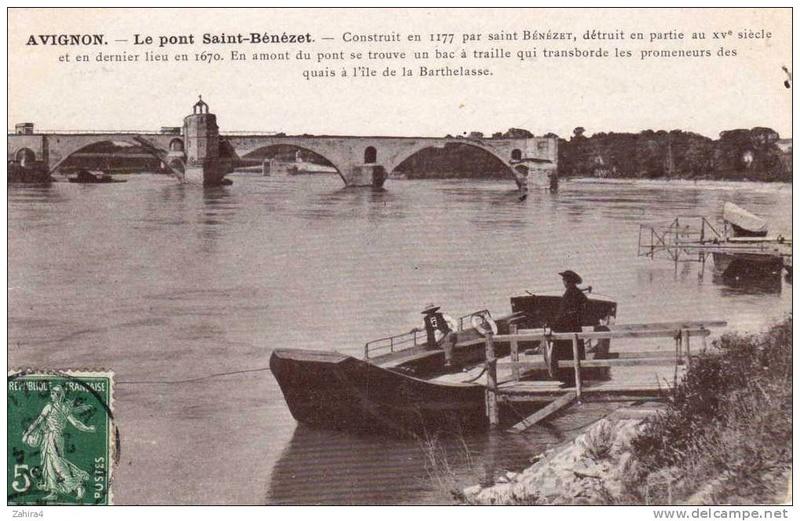 CPA avant les ponts suspendus de Marc Seguin, les bacs à traille 526_0010