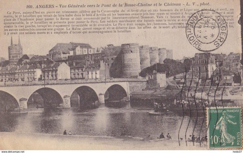 CPA Ponts et catastrophes angevines 1850, 1907, 1911 570_0010