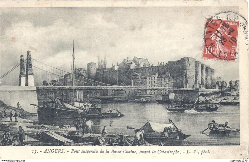 CPA Ponts et catastrophes angevines 1850, 1907, 1911 633_0010