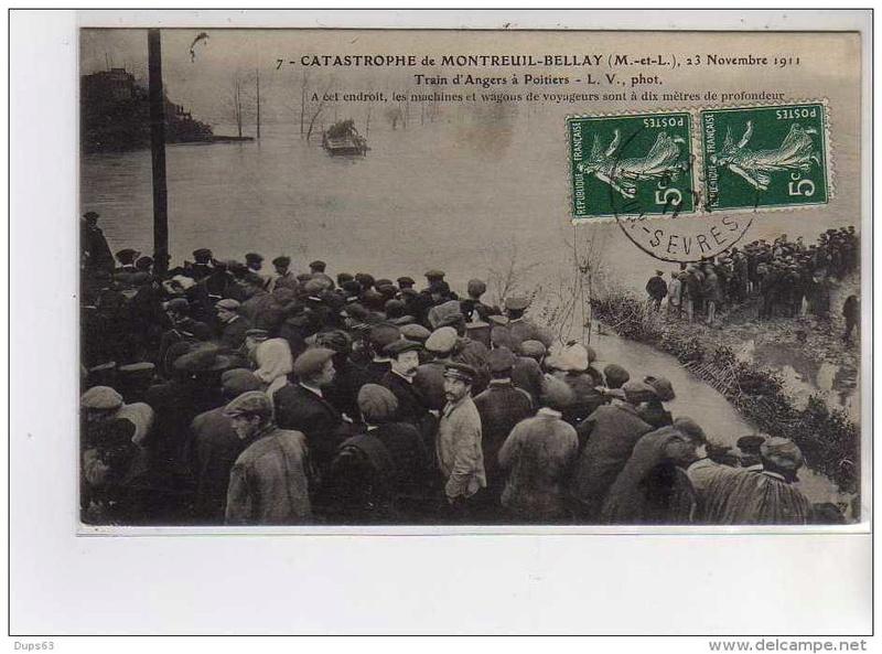 CPA Ponts et catastrophes angevines 1850, 1907, 1911 666_0010