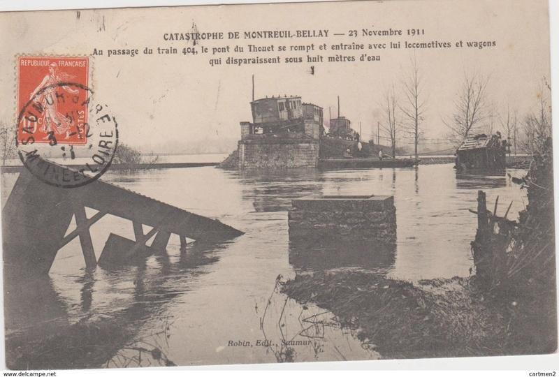 CPA Ponts et catastrophes angevines 1850, 1907, 1911 791_0010