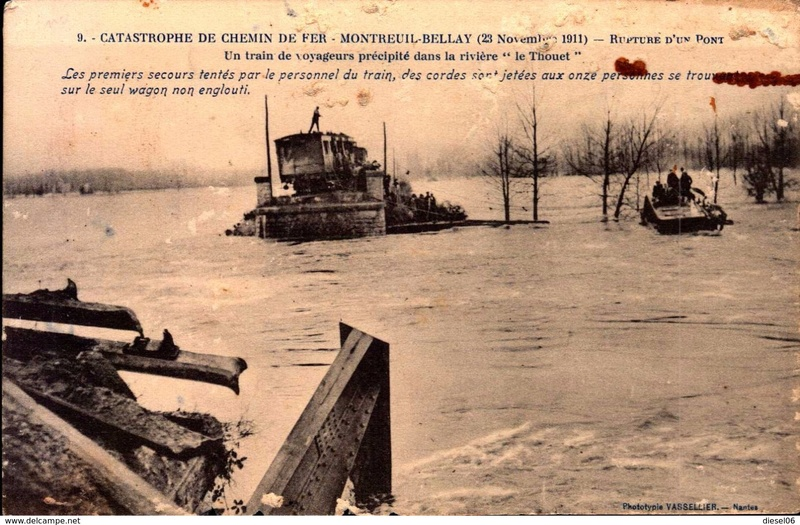 CPA Ponts et catastrophes angevines 1850, 1907, 1911 812_0010