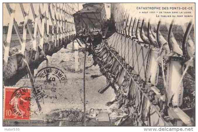 CPA Ponts et catastrophes angevines 1850, 1907, 1911 854_0010